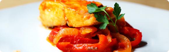 Bacalhau com pimentões à Española
