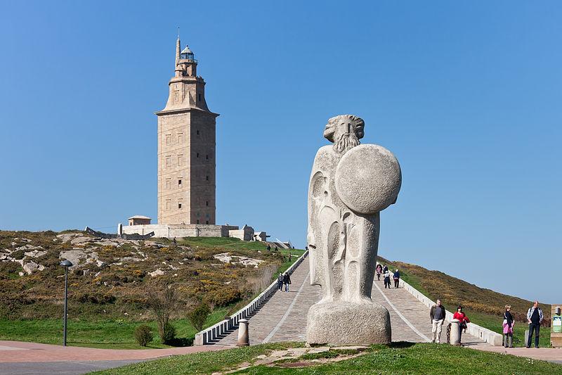 A Torre de Hércules, o símbolo de La Coruña