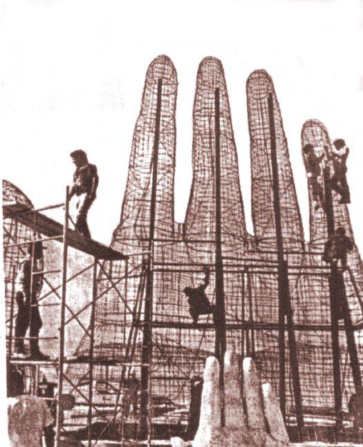 Construção da Mano del Desierto - Antofagasta - Chile