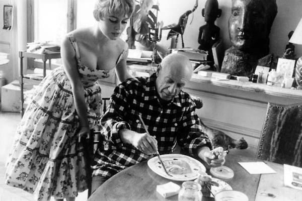 Pablo Picasso e Brigitte Bardot