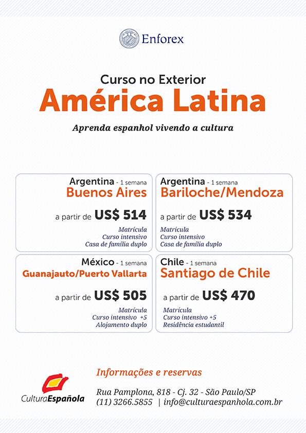 Curso de Espanhol no Exterior - America Latina