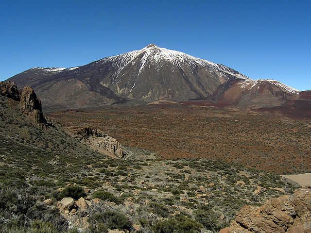 O vulcão adormecido Teide em Tenerife, Ilhas Canárias