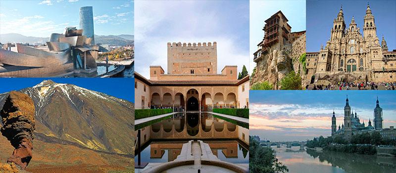 Pontos turísticos da Espanha por Comunidade Autônoma