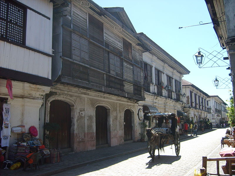 Casas coloniais espanholas em Vigan