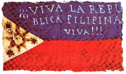 Bandeira dos revolucionários filipinos de 1896